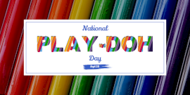 Online Editable National Play-Doh Day Twitter Post