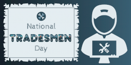 Online Editable National Tradesmen Day Twitter Post