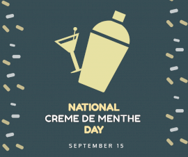 Online Editable National Creme De Menthe day September 15 Facebook Post