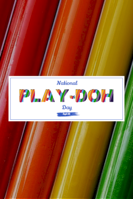 National Play-Doh Day - Pinterest Graphic