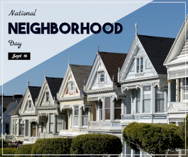 Online Editable Neighborhood Day September 16 Facebook Post