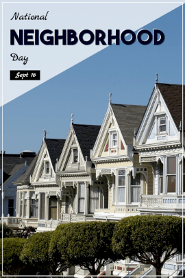 National Neighborhood Day - Pinterest Graphic
