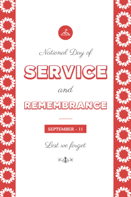 National Day of Service and Remembrance Day - Pinterest Graphic