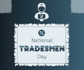 Online Editable National Tradesmen Day Facebook Post