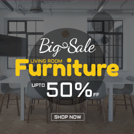Online Editable Furniture for Living Room Big Sale Square GIF Post