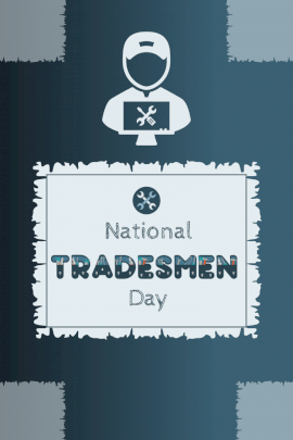 National Tradesmen Day -  Pinterest Graphic