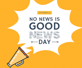 Online Editable No News Is Good News Day September 11 Facebook Post
