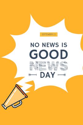 National No News Is Good News Day - Pinterest Graphic