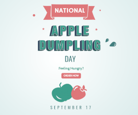 Online Editable National Apple Dumpling Day September 17 Facebook Post