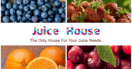 Online Editable Fresh Juice Shop 4 Photo Collage
