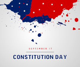 Online Editable Constitution Day September 17 Facebook Post