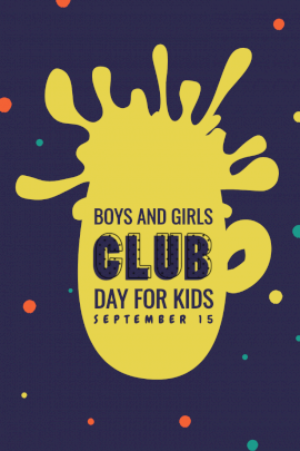 Boys and Girls Club Day for Kids - Pinterest Graphic