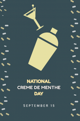National Creme de menthe day - Pinterest Graphic