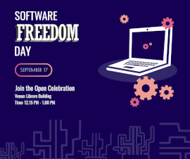 Online Editable Software Freedom day September 17 Facebook Post