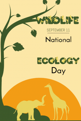 National Wildlife Ecology Day - Pinterest Graphic