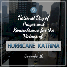 National Day of Prayer and Remembrance for the Victims of Hurricane Katrina - Instagram Post