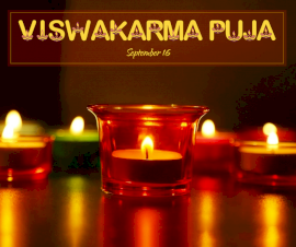 Online Editable Viswakarma Puja September 16 Facebook Post