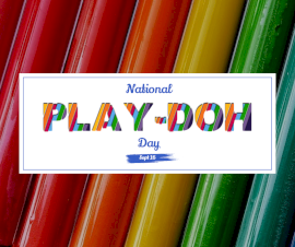 Online Editable National Play-Doh Day Facebook Post