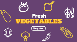 Online Editable Fresh Vegetables Online Store Facebook App Ad