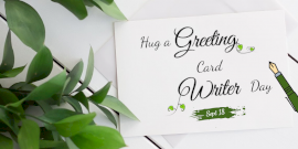 Online Editable Hug a Greeting Card Writer Day Twitter Post