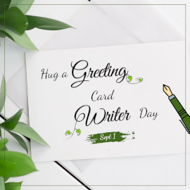 Hug a Greeting Card Writer Day - Instagram Post