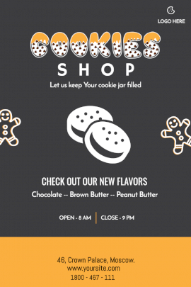 Cookies Shop -  Pinterest Graphic