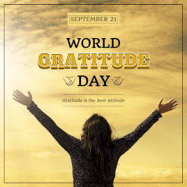 World Gratitude Day - Instagram Post