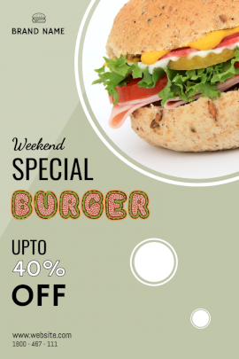 Weekend Special Burger - Pinterest Graphic