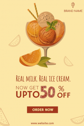 Real Ice Cream -  Pinterest Graphic