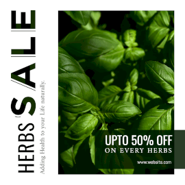 Herbs Sale -  Instagram Post