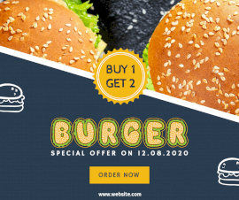 Burger Buy 1 Get 2 - Facebook Post