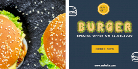 Online Editable Special Offer on Burgers Twitter Post