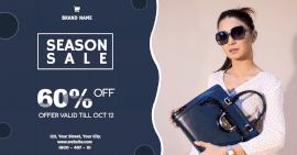 Online Editable Blue Season Sale Facebook Ad Post