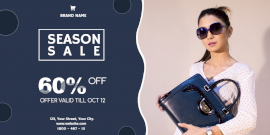 Online Editable Season Sale Offers Twitter Post