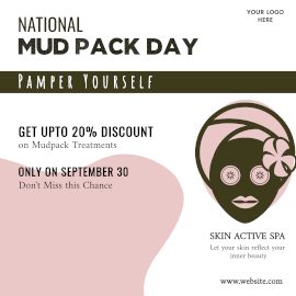 National Mud Pack Day -  Instagram Post