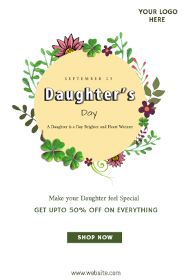 Daughter's Day - Pinterest Graphic