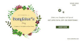 Online Editable Daughter's Day Promotion Facebook Ad Post