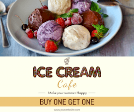 Online Editable Ice Cream Parlor Facebook Post