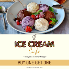 Online Editable Special Ice Cream Offers Instagram Ad