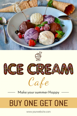Icecream Cafe - Pinterest Graphic