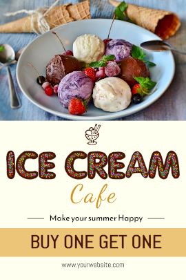 Icecream Cafe - Tumblr Graphic