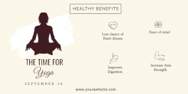 Online Editable Benefits Of Yoga Twitter Post