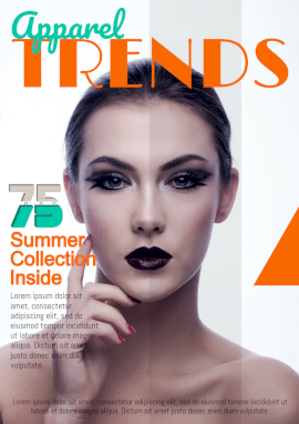 Online Editable Trendy Summer Collection Magazine Cover