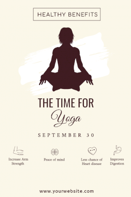 The Time for Yoga - Pinterest Graphic
