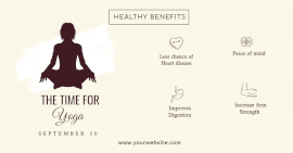 Online Editable Health Benefits of Yoga Facebook Ad Post