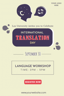 International Translation Day -  Pinterest Graphic