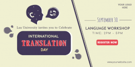 Online Editable International Translation Day Promotion Twitter Post