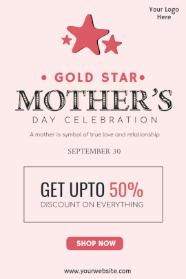 Gold Star Mother's Day - Pinterest Graphic
