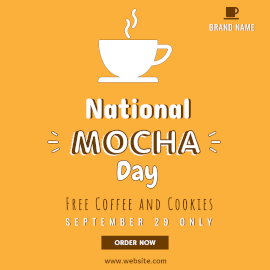 Online Editable National Mocha Day Discount On September 29 Instagram Ad