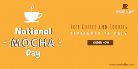 Online Editable National Mocha Day Discount Twitter Post
